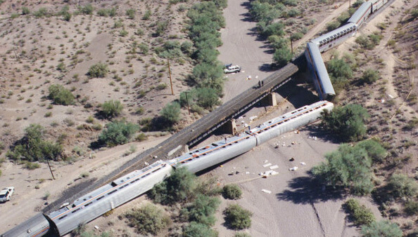 Amtrak Sunset Limited Derailment, Hyder Arizona, 1995