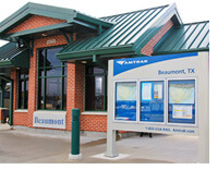 Amtrak Station in Beaumont Texas