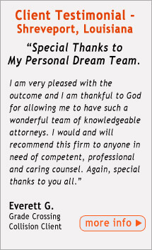 Testimonial from Shreveport Area FELA Client