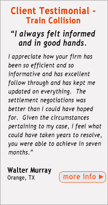 Testimonial from Train Collision FELA Client